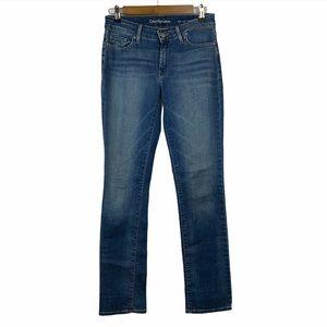 Calvin Klein Jeans Straight Dark Wash Mid Rise